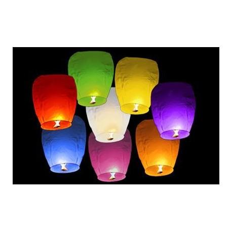 Lampion štěstí 10ks - barevný mix