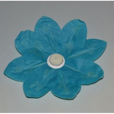 Plovoucí lucerna - leknín - modrá