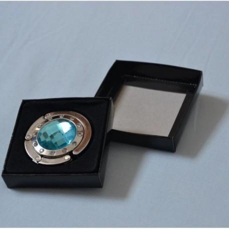Háček na kabelku - Modrý s kamínky