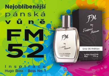 FM 52 nejoblíbenější pánský parfém